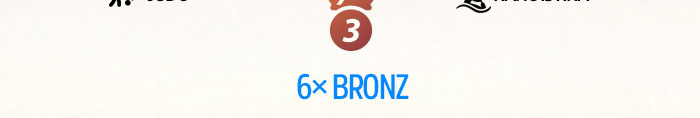 6x Bronz
