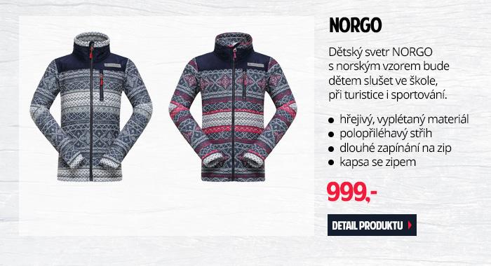 NORGO - Dětský svetr s norským vzorem