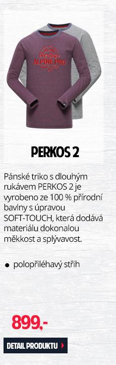 PERKOS 2 - Pánské triko s dlouhým rukávem ze 100 % přírodní bavlny