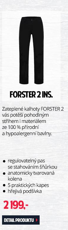 FORSTER 2 INS. - Zateplené pánské kalhoty s pohodlným střihem