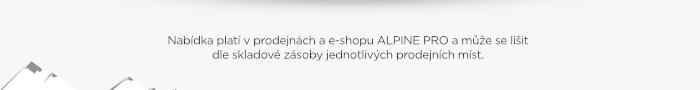 Nabídka platí v prodejnách a e-shopu ALPINE PRO
