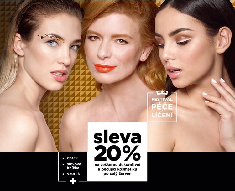 Sleva 20% na veškerou dekorativní a pečující kosmetiku po celý červen