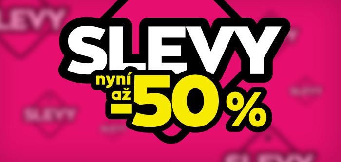 SLEVY nyní až -50%