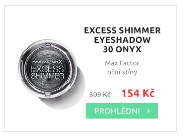 Max Factor oční stíny EXCESS SHIMMER EYESHADOW 30 ONYX