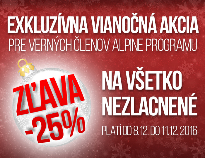 72dd1c4f59 Exkluzívna vianočná zľava 25% na všetko nezlacnené! - ALPINE PRO ...