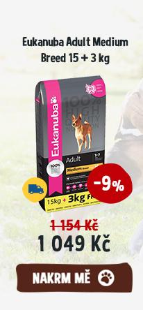 Eukanuba Adult Medium Breed 15 + 3 kg