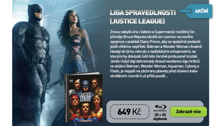 Liga spravedlnosti (Justice League) - Blu-ray 3D   2D Digibook (2 BD)