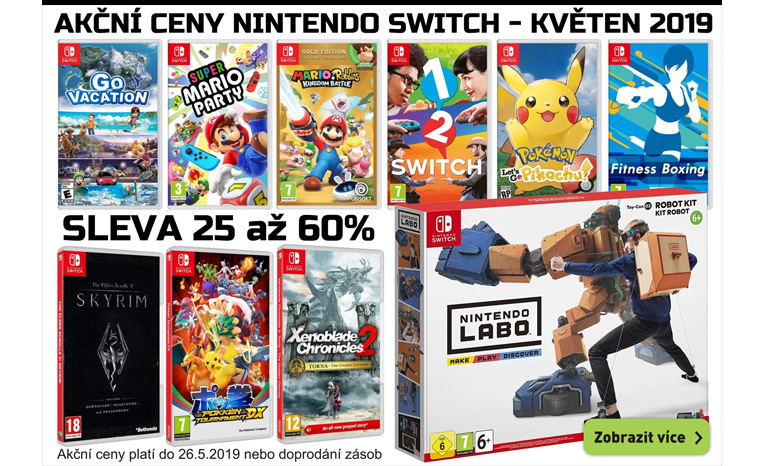 Akční ceny Nntendo Switch