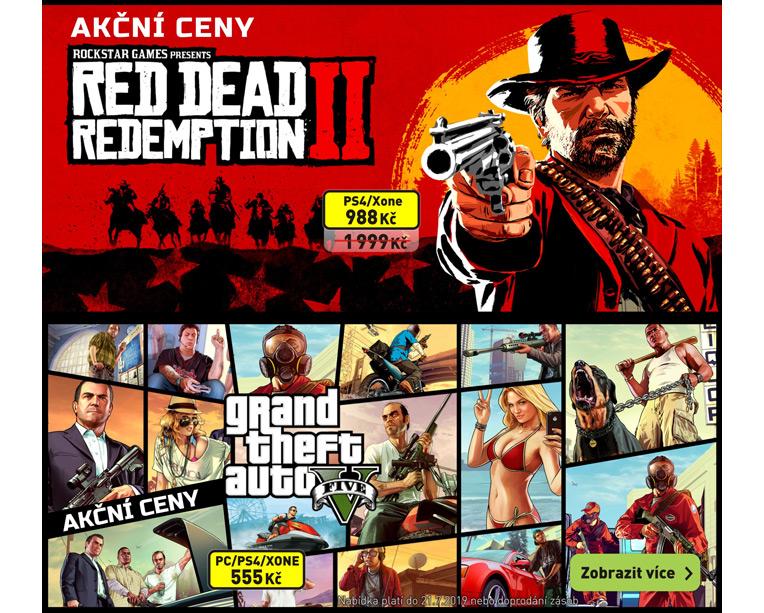 Akční ceny Rockstar Games