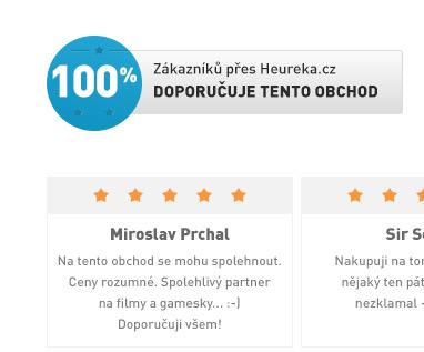100 % Doporučuje tento obchod na Heureka.cz
