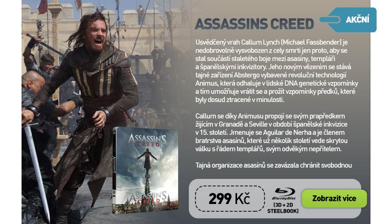 ASSASSINS CREED - Blu-ray STEELBOOK 3D   2D (2 BD)