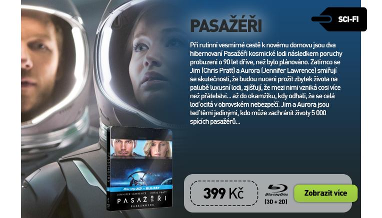 PASAŽÉŘI - Blu-ray STEELBOOK 2D   3D (2 BD)