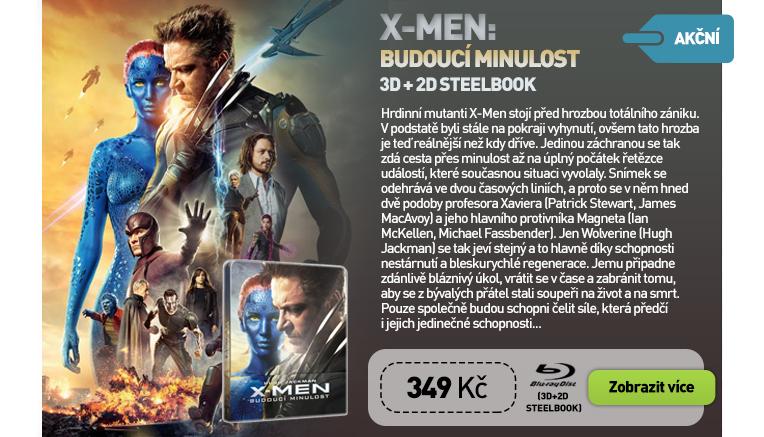 X-MEN: BUDOUCÍ MINULOST - Blu-ray 3D   2D STEELBOOK