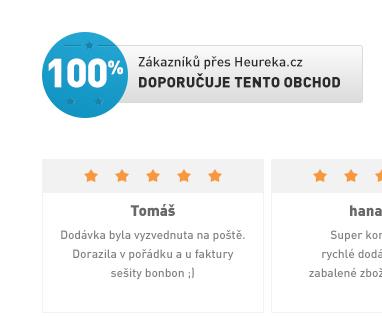 99 % Doporučuje tento obchod na Heureka.cz