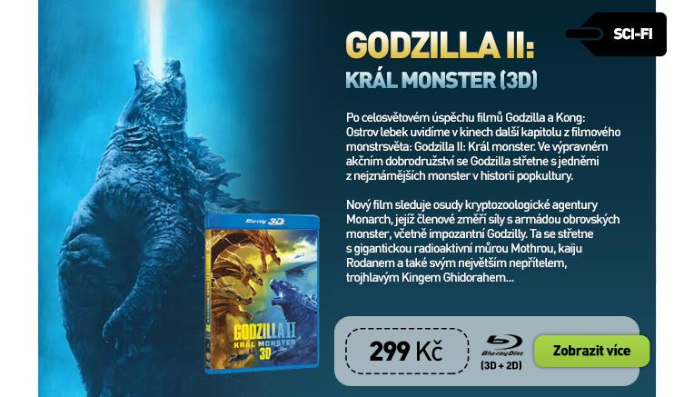 Godzilla II: Král monster - Blu-ray 3D   Blu-ray (2BD)