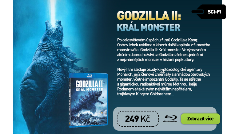 Godzilla II: Král monster - Blu-ray