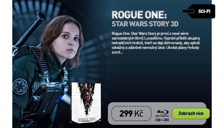 ROGUE ONE: STAR WARS STORY - Blu-ray 3D   2D (2 BD   bonusový disk)