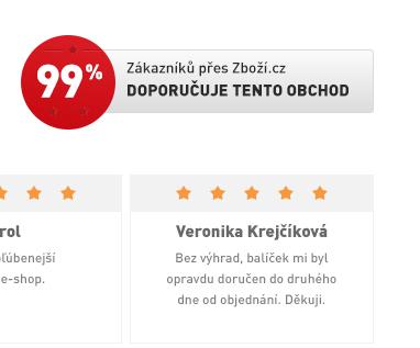 99 % Doporučuje tento obchod na Zboží.cz