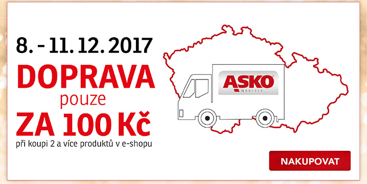 8.-11.12. 2017 Doprava pouze za 100 Kč při koupi 2 a více produktů v e-shopu