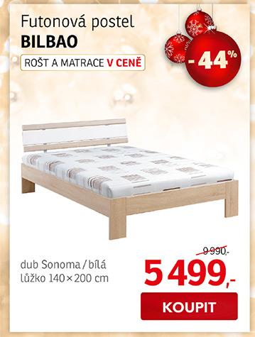 Futonová postel BILBAO 140x200