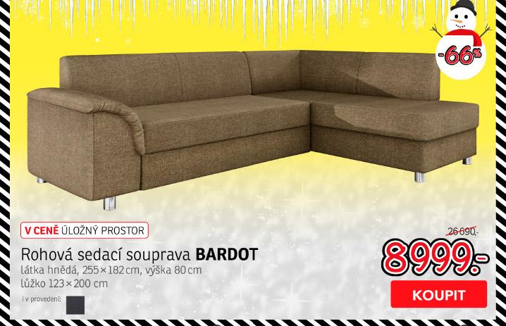 Rohová sedací souprava BARDOT