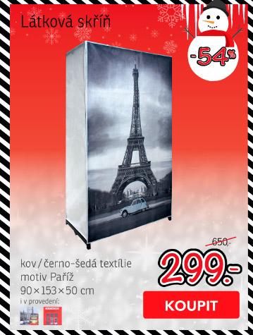 Látková skříň PARIS